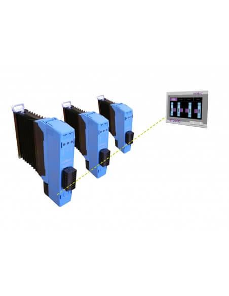 Régulateur de température, mesure de courant et interface de communication